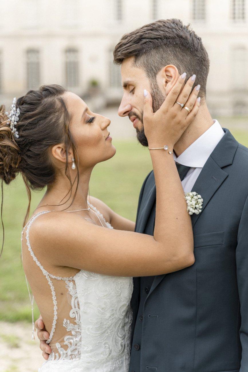 Photo de mariés au château de Chantilly